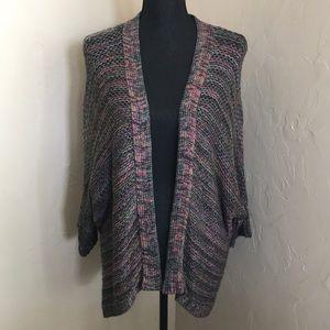 ANA multi colored sweater shrug size Large